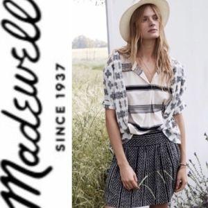 Madewell Silk Skyline tribal print skirt